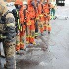 Brandövning i grundläggande säkerhetskurs